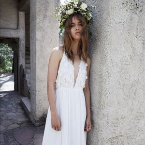 For Love & Lemons Embroidered Isabella Maxi Dress